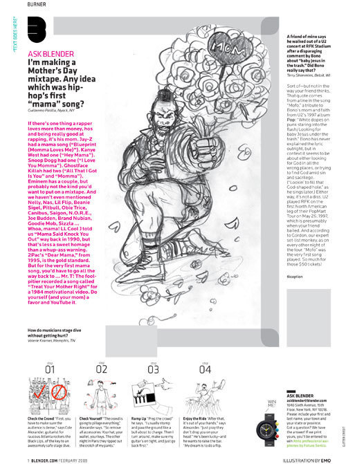 Blender Magazine: Mr. T Article