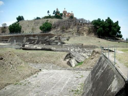 Puebla, Mexico (June 2009): Church On Pyramid