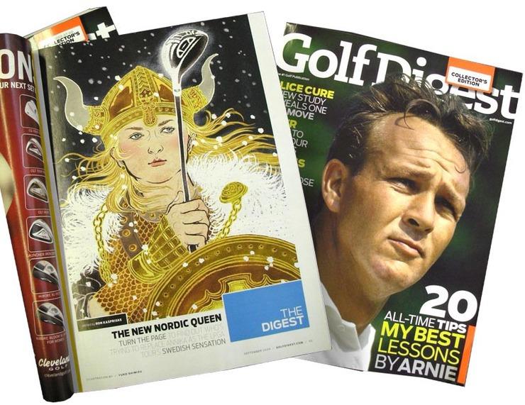 Viking Queen Plays Golf: Golf Digest Magazine