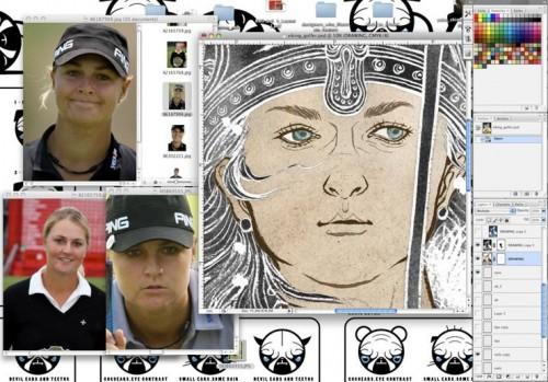 Viking Queen Plays Golf: Adobe Photoshop