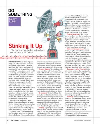 Fast Company Magazine (October 2009)