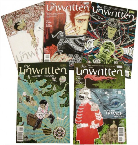 The Unwritten: Issue 1-5 Covers