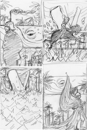 The Unwritten, Issue 5: Sketches
