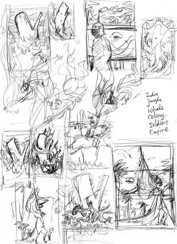 The Unwritten, Issue 5: Thumbnail Sketches