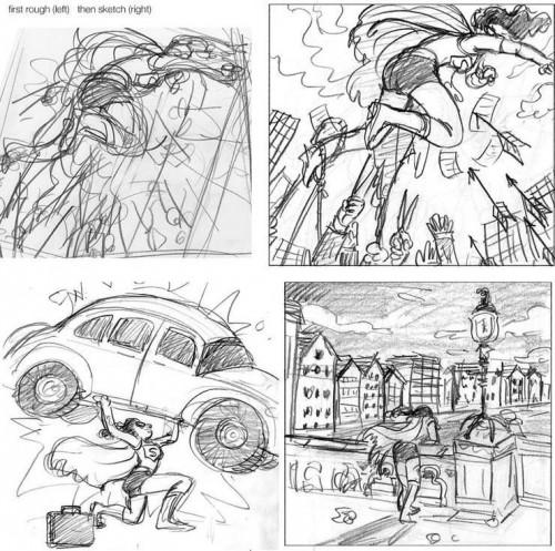 Der Spiegel Magazine (October 2009): Sketches