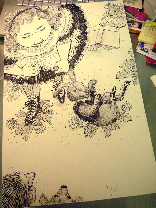 The Unwritten: Issue 12 - Ink Drawing
