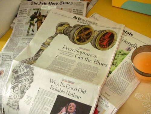 The New York Times (May 2010): Front Page