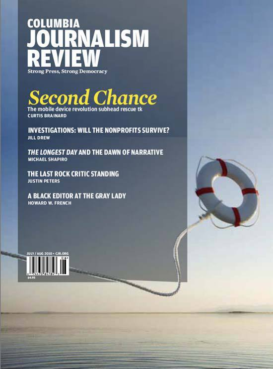 Columbia Journalism Review (July-August 2010): Dummy Layout