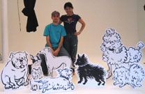 My former student and amazing assistant James Bragden and me with our dogs.