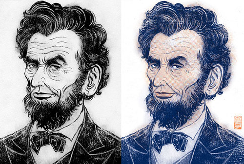 Book Review: Abe Lincoln B&W-Color