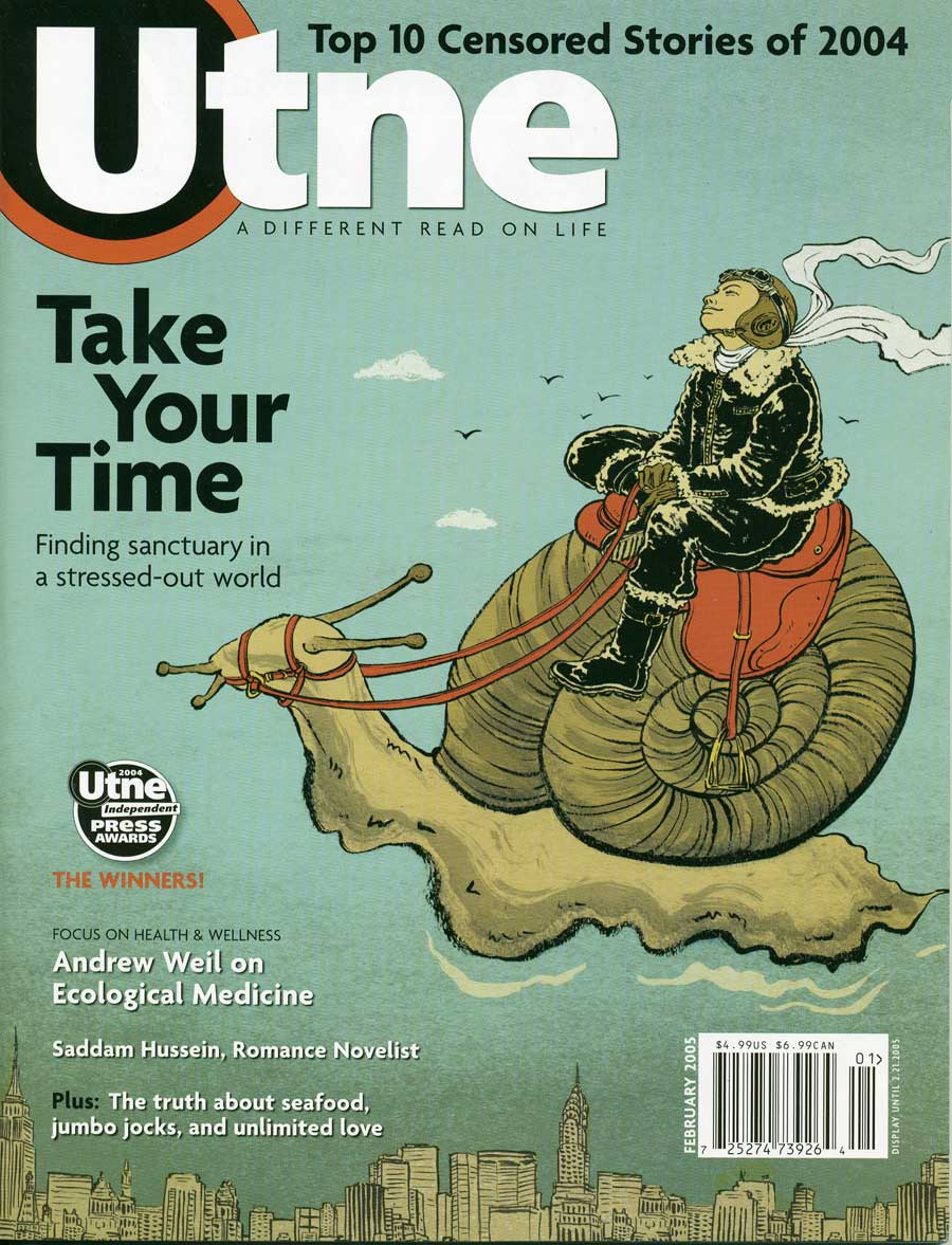 Utne magazine cover