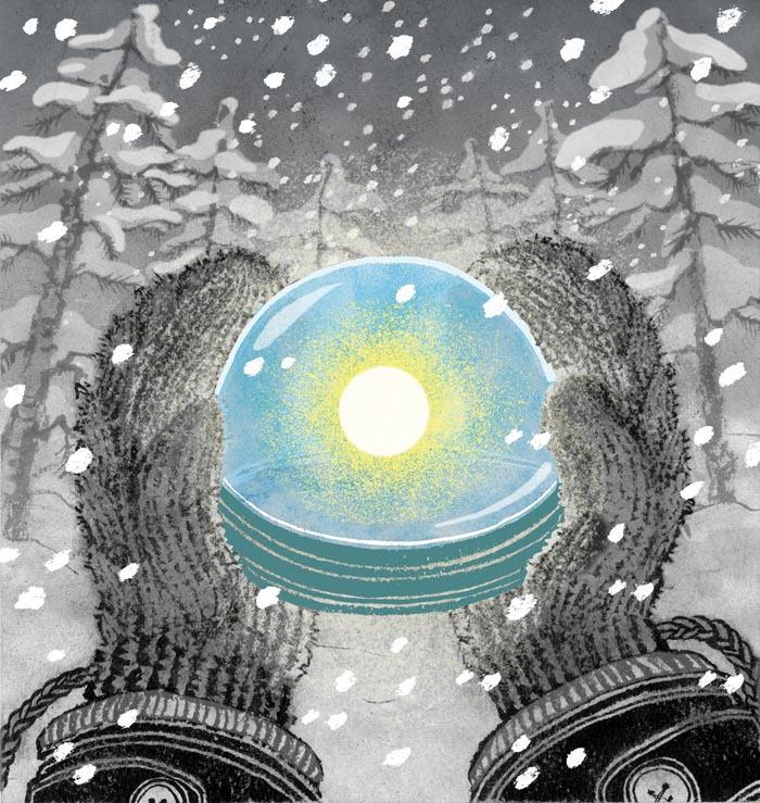 Happy Winter Solstice illustration