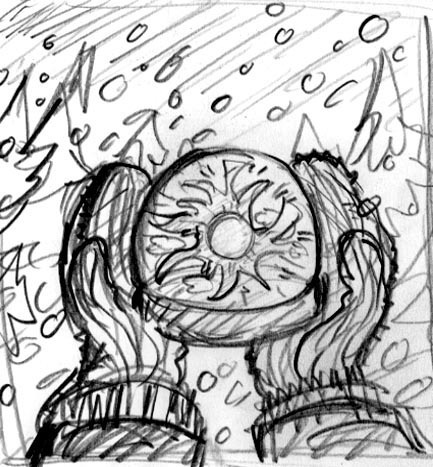 Happy Winter Solstice illustration sketch