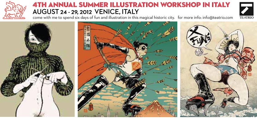 Illustration Workshop in Venice 2012
