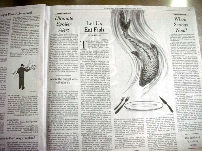 Quick FIsh NYT papers