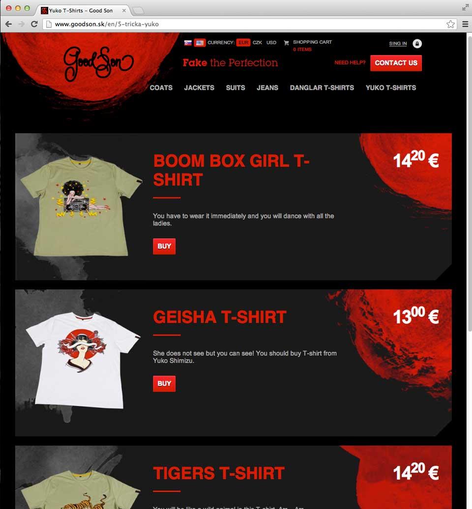 Yuko Shimizu - Yuko x GoodSon T shirts project - good son yuko shimizu t shirts