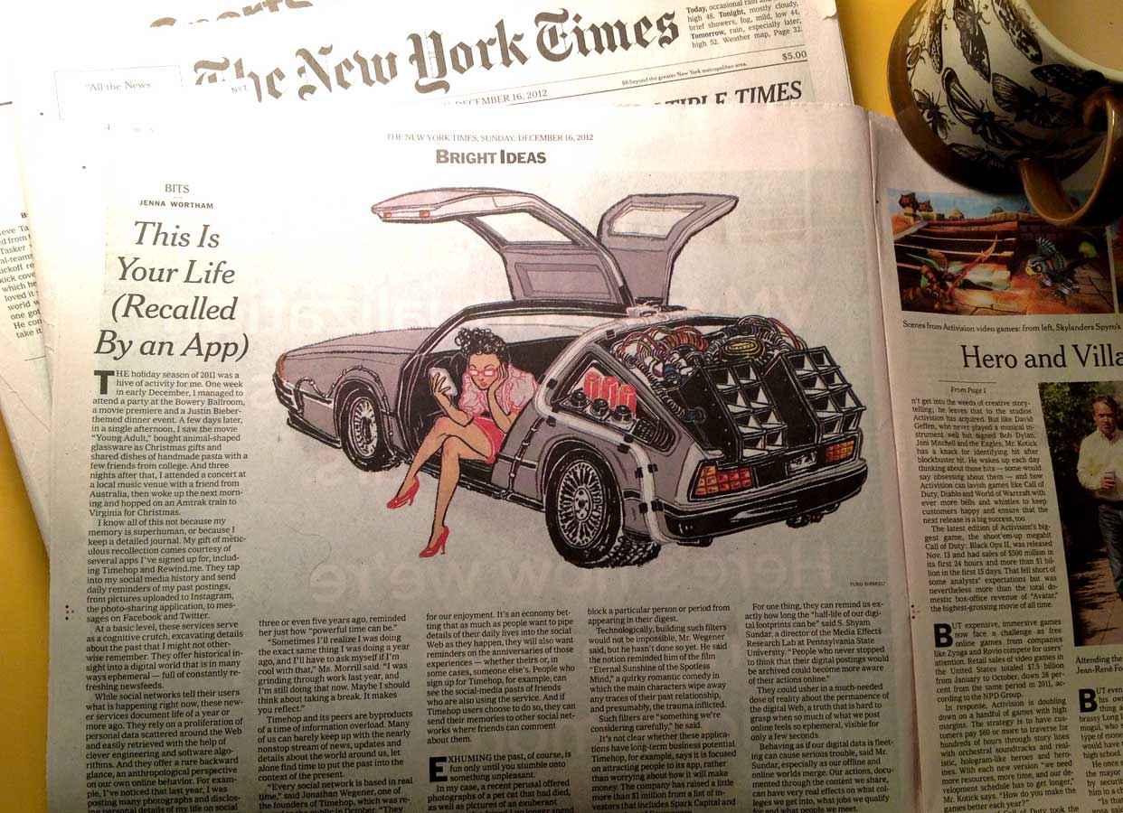 Yuko Shimizu - NY TIMES Sunday Business back to the future -