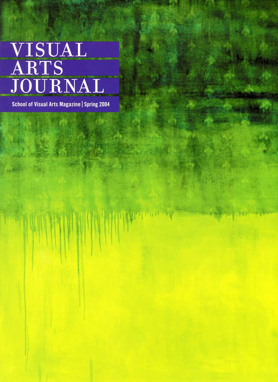 Visual Arts Journal cover