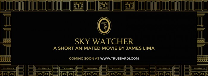 Trussardi short animated film SKY WATCHER