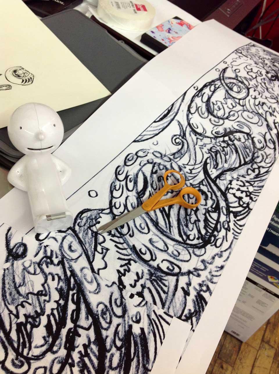 Yuko Shimizu - YES! DUMBO mural x Sagmeister -