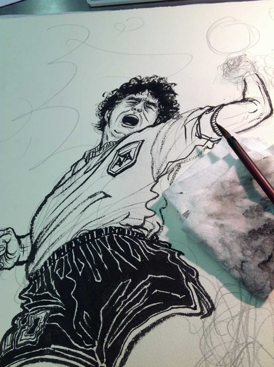 Yuko Shimizu - 8by8 Maradona's famous goals - yuko shimizu diego maradona eight by eight hand of god