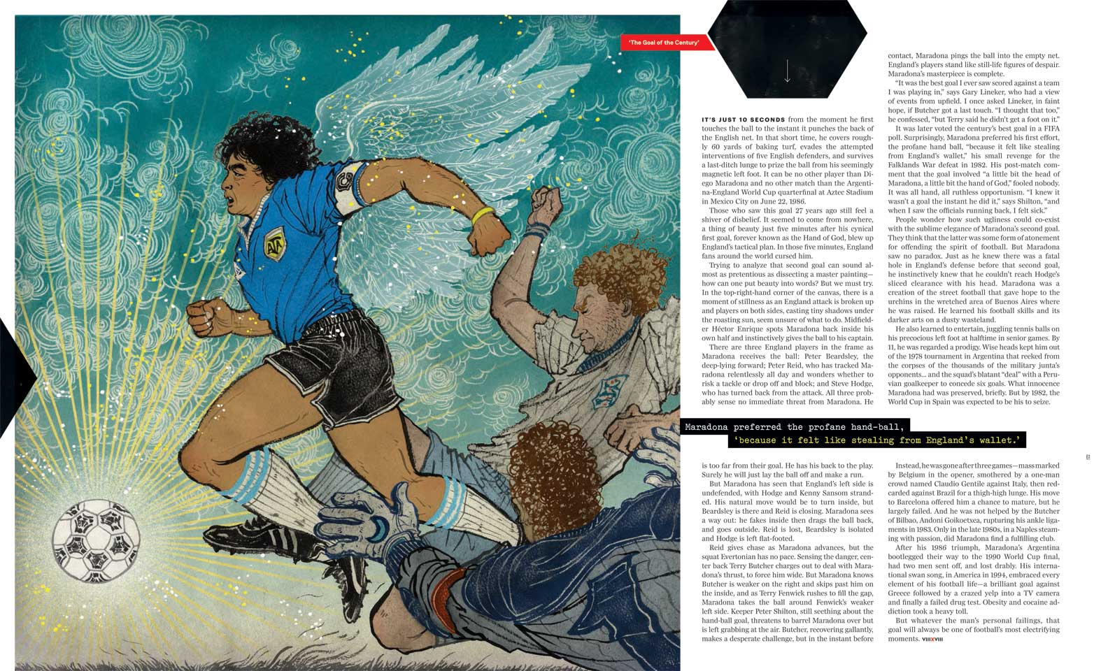 Yuko Shimizu - 8by8 Maradona's famous goals - yuko shimizu diego maradona eight by eight goal of the century