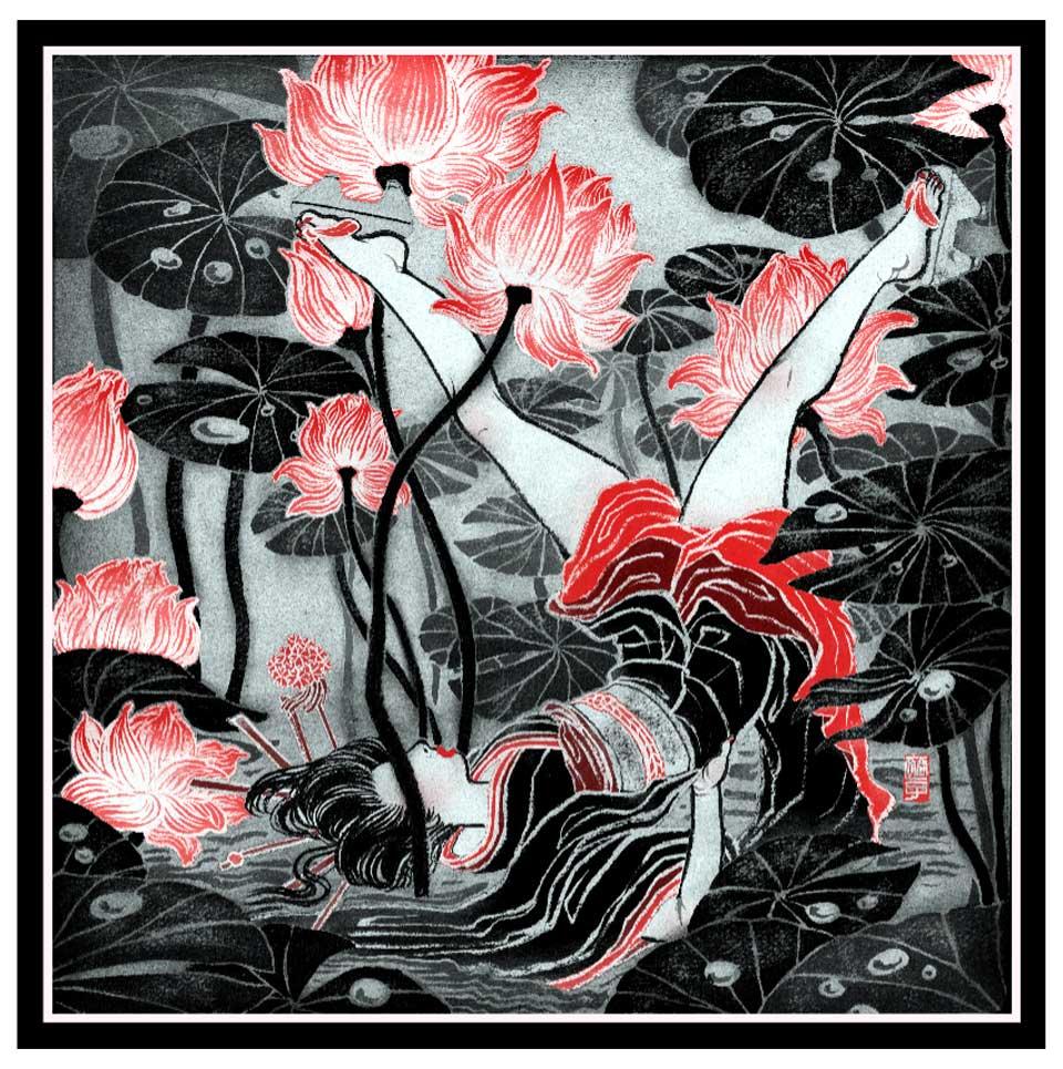 """""""yuko shimizu"""" """"mae gallery editions"""" """"silk"""" """"scarf"""""""