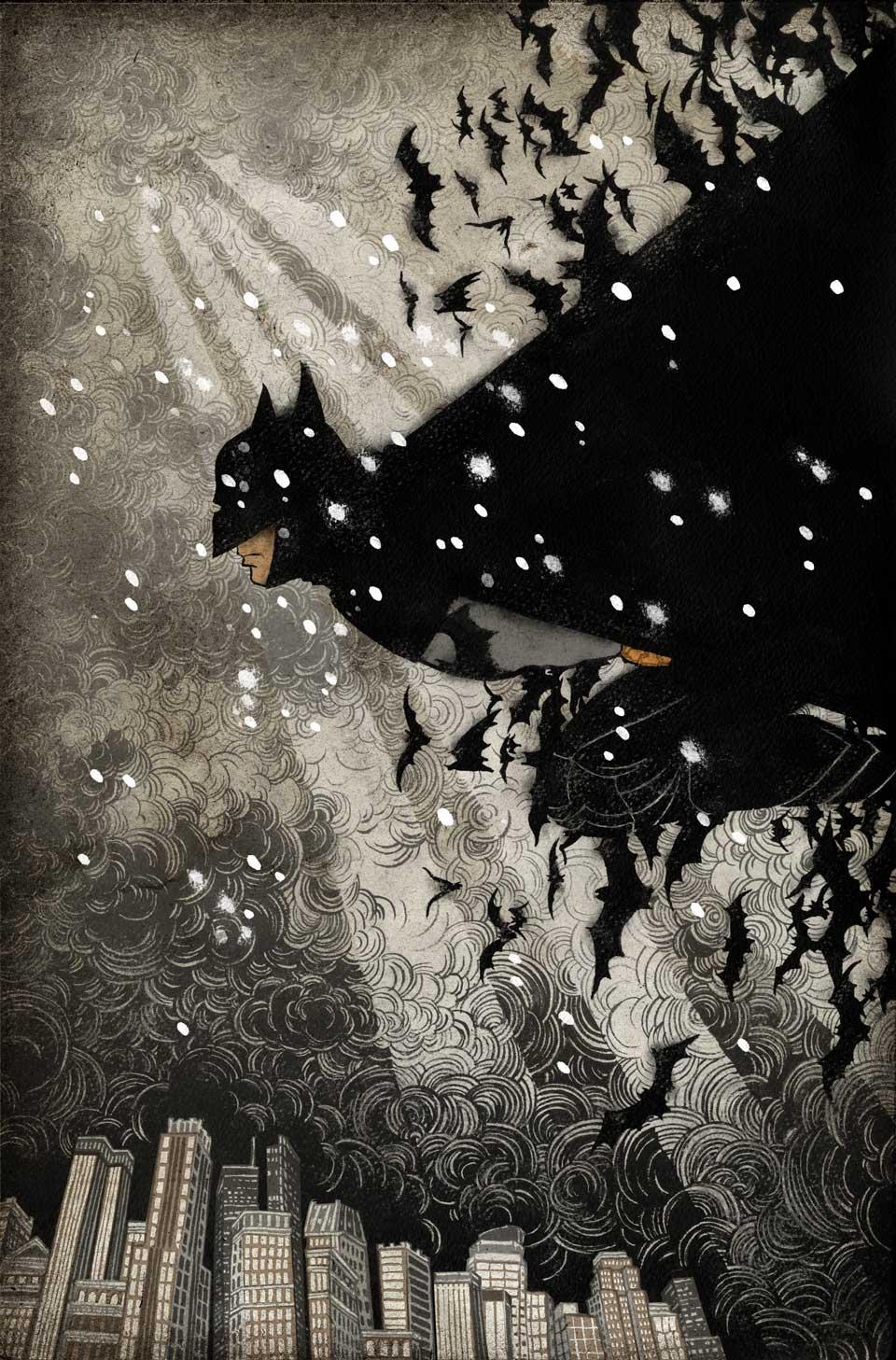 Yuko Shimizu - BATMAN Detective Comics cover - batman yuko shimizu dc comics dc universe cover