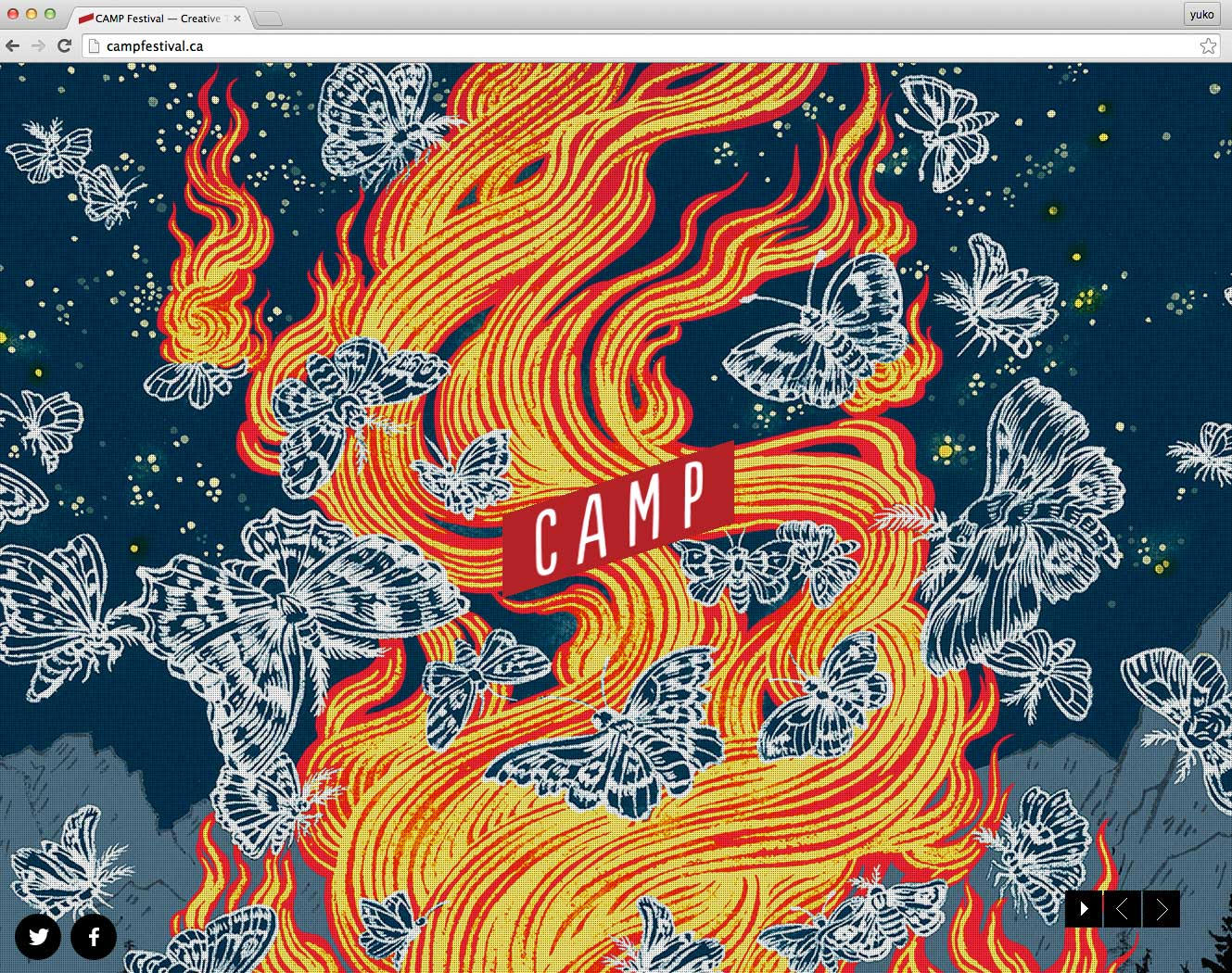 Yuko Shimizu - CAMP design/tech Festival key visual -