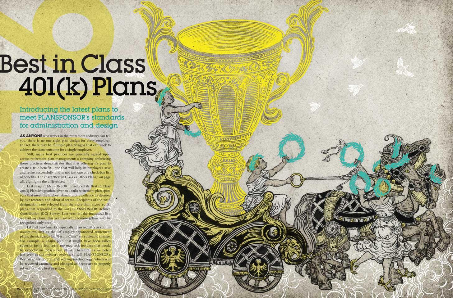 Yuko Shimizu - PLANSPONSOR cover Best in Class 401(k) Plans -