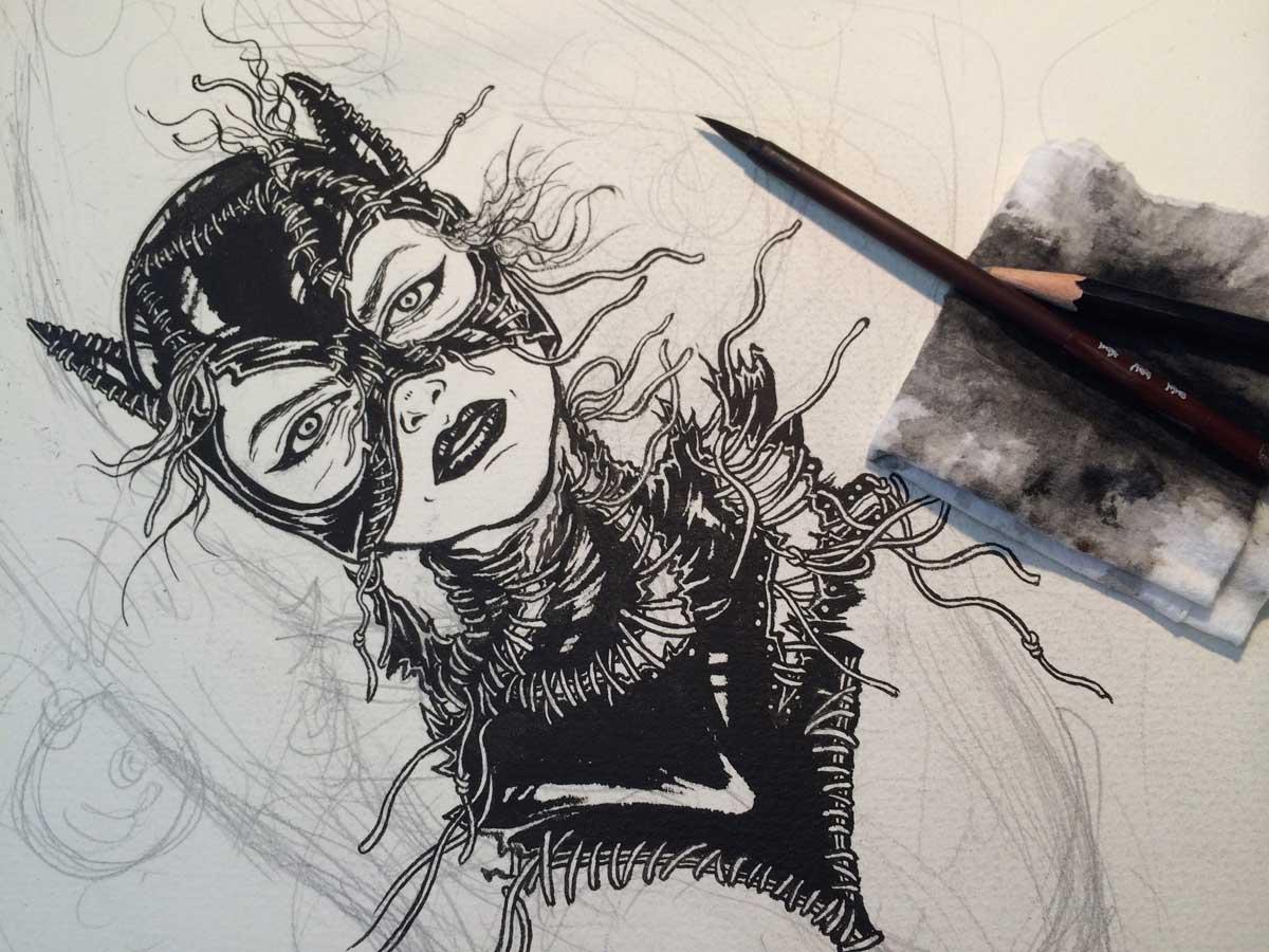 Batman Returns Variant Poster Catwoman Yuko Shimizu